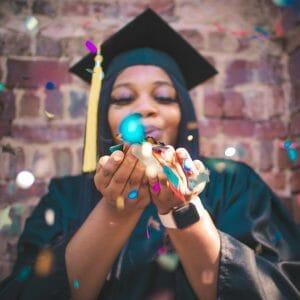 2020 grad with glitter